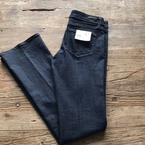 NWT Paige Manhattan Slim Boot Cut 28 Dark Finish